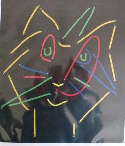 Zeichnung mit schwarzem Hintergrund